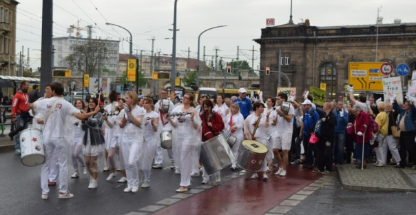 Parade der Integration in Dresden am 05.05.2015