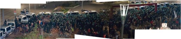 Der Gegenprotest von Gepida um 20 Uhr