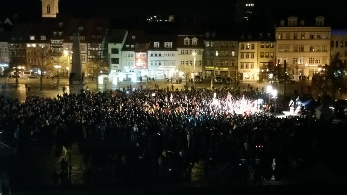 Zwischen 2700 bis 3200 bei 6.AfD-Demo in Erfurt - Zwischen 1800 bis 2300 bei Gegenprotest unterwegs